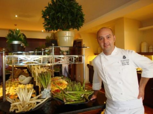 Thomas Kahl, chef of the restaurant Es Fum Hotel St. Regis Mardavall winning a Michelin star.