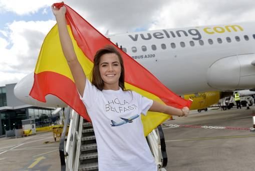 Leading Spanish airline arrives at Belfast City Airport 2